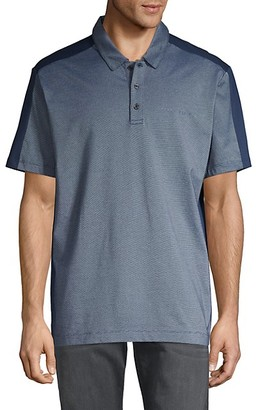 Perry Ellis Colorblock Cotton Blend Polo