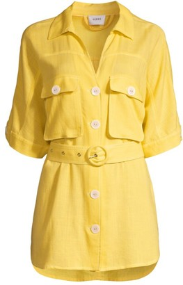 SUBOO Ines Linen-Blend Shirt Cover-Up