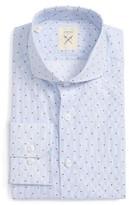 Men's Strong Suit Trim Fit Stripe Dress Shirt