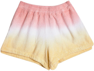 Terry Estate Dyed Cotton Terry Towelling Mini Shorts