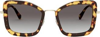 Miu Miu Oversized Tortoiseshell Sunglasses