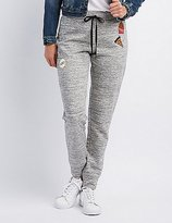 Charlotte Russe Patched Drawstring Jogger Pants