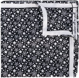 fe-fe star print pocket square - men - Silk - One Size