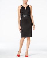 Thalia Sodi Faux-Leather-Trim Halter Dress, Only at Macy's