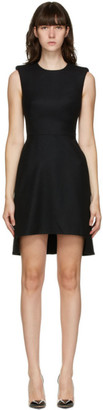 Alexander McQueen Black WoolSleeveless Short Dress
