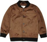 River Island Mini boys tan faux suede bomber jacket