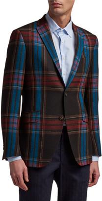 Etro Men's Plaid Wool Sport Jacket