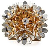 Lele Sadoughi Plumeria Floral Statement Ring