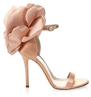 Giuseppe Zanotti Women's Alien Floral Silk Ankle-Strap Sandals
