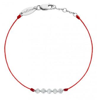 Redline Five Liberty Red String White Gold Bracelet