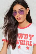 Nasty Gal Stayin' Alive Tinted Aviator Glasses