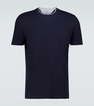 Brunello Cucinelli Crewneck contrast collar T-shirt
