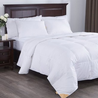 Pure Down Puredown Lightweight White Goose Down Comforter Duvet Insert 300 Thread Count 100% Cotton Fabric, 600 Fill Power, Full/Queen Size, White