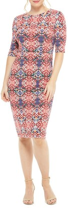 Maggy London Jeanie Printed Midi Dress