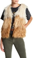 Mother Tri-Color Faux Fur Vest