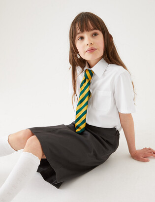 Marks and Spencer 2pk Girls Pure Cotton School Blouses