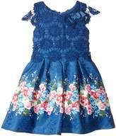 Us Angels Cap Sleeve Lace Popover Dress (Toddler/Little Kids)