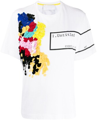 NO KA 'OI Untitled-print sequin embroidered T-shirt