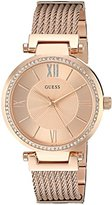 GUESS Women's U0638L4 Rose Gold-Tone Wired Bracelet with Self-Ajustable Links