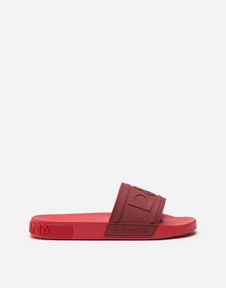 Dolce & Gabbana Rubber Beachwear Sliders With Logo