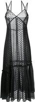 Le Ciel Bleu gathered detail lace dress - women - Polyester - 36