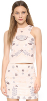 J.o.a. Embroidered Crop Top