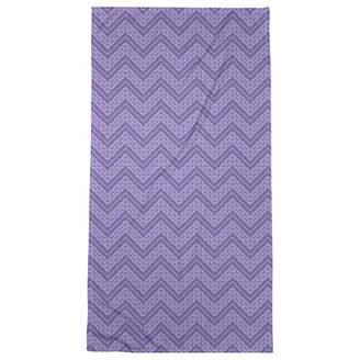 ArtVerse Rhonda Cheval Monochromatic Hand Drawn Chevron Pattern Beach Towel - Poly/Cotton