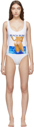 Ashley Williams White Beach Bum One-Piece Swimsuit