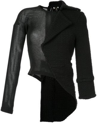Comme Des Garçons Pre Owned Mesh Panel Half Jacket