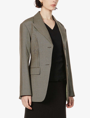ANDERSSON BELL Jayden single-breasted wool-blend blazer