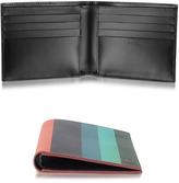 Paul Smith Men's Leather Artist Stripe Print Billfold Wallet
