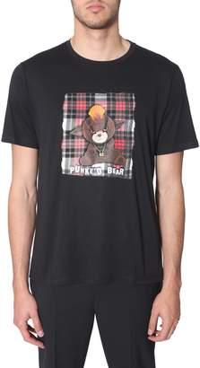 Neil Barrett t-shirt with punke'd bear print