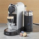 Crate & Barrel Nespresso ® by Breville Citiz Silver Espresso Machine with Milk Frother
