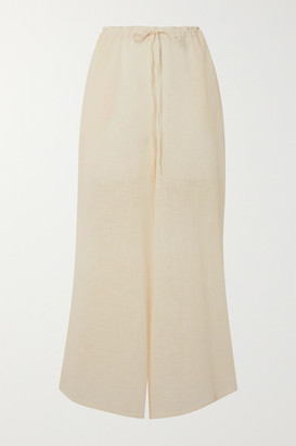 CLOE CASSANDRO + Net Sustain Lucy Cotton-gauze Wide-leg Pants - Cream