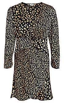 Rixo Women's Lilly Leopard Print Mini Dress