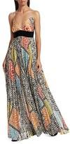 Thumbnail for your product : Silvia Tcherassi Genevive Sleeveless Mosaic-Print Maxi Dress