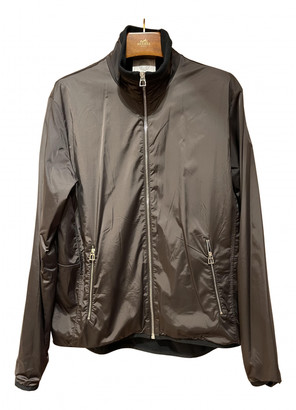 Hermes Blue Synthetic Jackets