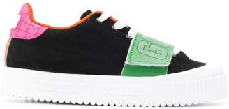 GCDS colour blocked low top sneakers
