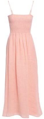 Joie Tilsa Shirred Linen Midi Dress