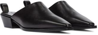 AEYDĒ Jess leather mules
