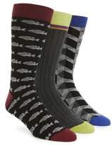 Ted Baker Men's Assorted 3-Pack Crew Socks