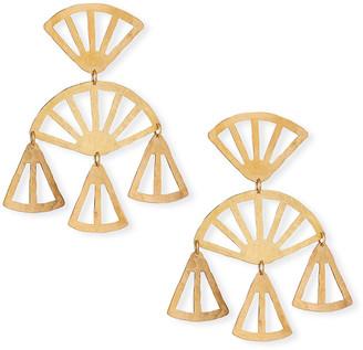 We Dream In Colour Antonia Fan-Dangle Earrings