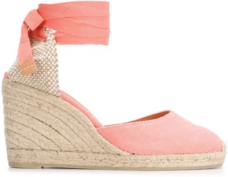 Castaner Carina lace-up espadrille wedges