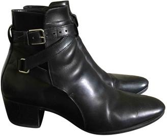 Saint Laurent Blaze Black Leather Ankle boots