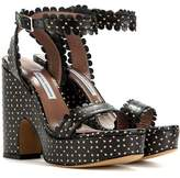 Tabitha Simmons Harlow perforated leather sandals