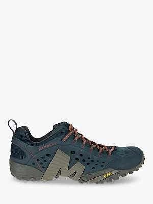 Merrell Intercept Men's Leather Walking Shoes, Blue Wing
