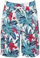 M&Co Minoti hibiscus flower print swim shorts