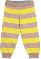 Stella McCartney Striped Cotton & Cashmere Knit Leggings