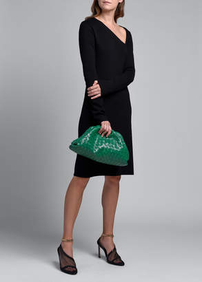 Bottega Veneta Long-Sleeve Dress With Asymmetrical Neckline