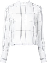 Studio Nicholson checked long sleeve top - women - Linen/Flax/Viscose - 0
